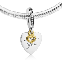 Fits Pandora Bracelets Love You Forever Silver Beads 100% 925 Sterling Silver Charms DIY Jewelry 09501k