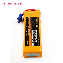 TCBWORTH RC Lipo Battery 11.1V 5200mAh 40C-80C 3S FOR RC Airplane Drone Aircraft Car Boat 3s high-rate cell batteria T/XT60
