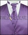 Hot sale frete grátis plain roxo do vestido de casamento (colete + lenço + gravata abotoaduras + lenço)