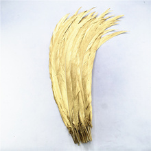 100Pcs/Lot Dipped Dye Gold Silver Pheasant Tail Feathers 30-80CM/12-32inch for Crafts Chicken Feather Plumas