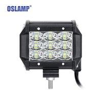 Oslamp 2x4 36w 6D Tri Row LED Light Bar Offroad Flood Beam Work Light 4x4 4WD