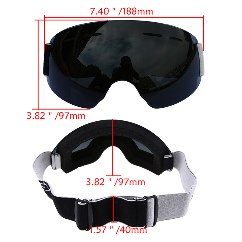 POSSBAY Dual-layer Snowboard Snowmobile Ski Goggles Windproof Motocross Glasses Off-road Racing Eyewear Motorbike Goggles