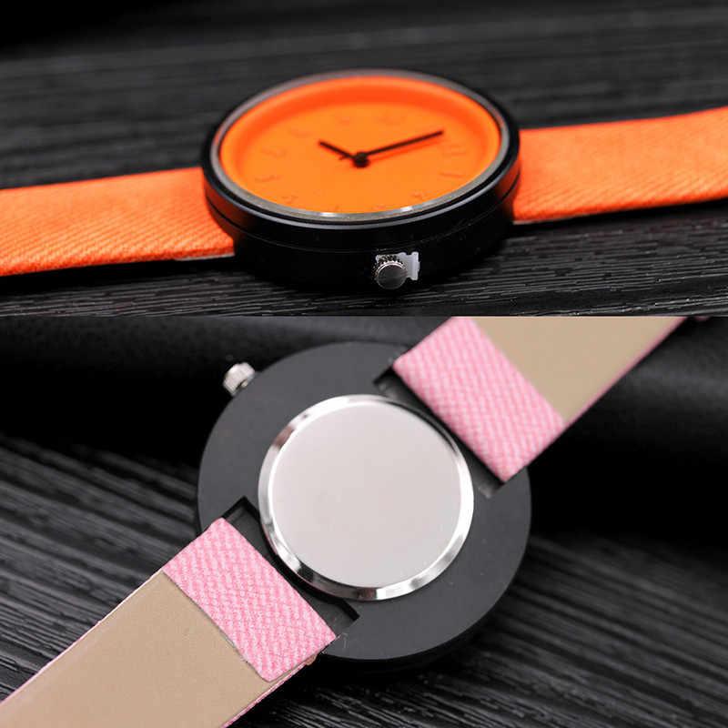 Vente chaude date relogio feminino mode dames montre numéro hommes montres Quartz toile ceinture montre-bracelet robe femmes montres