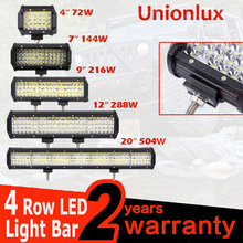 Quad Rows 4 - 20 Inch Off Road LED Bar Auto LED Light Bar for Car Tractor Boat 4WD 4x4 Truck SUV ATV Driving Lamp 12V 24V