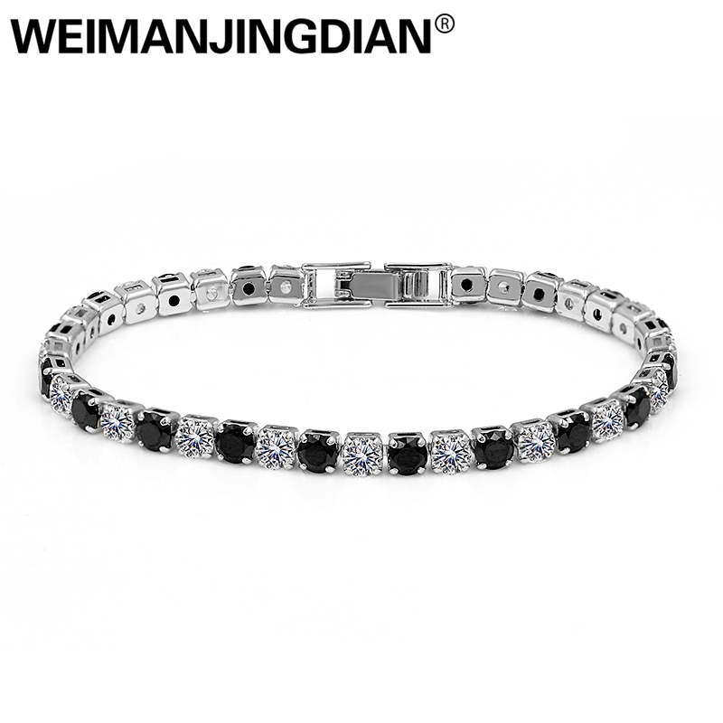 Brass Cubic Zirconia 18K Yellow Gold Plated Multi-color Oval Cut Tennis Bracelet