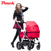Pouch P68 Light weight 2 in 1 stroller with Storage Pushchair Portable Baby