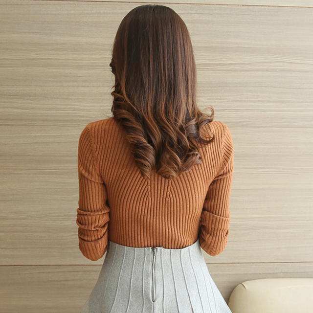 Turtleneck Sweater Women Fashion 2018 Autumn Winter Black Tops Women Knitted Pullovers Long Sleeve Jumper Pull Femme Clothing 2