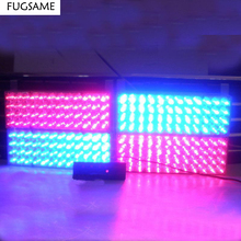FREE SHIPPING 4*48LED Strobe Fire  Warning Grill Light WHITE 3 FLASHING MODE