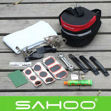 2014 New Arrival Bike Bicycle Cycling SAHOO Saddle Seat Seatpost Bag Tyre Patch Tire Lever Multifunction