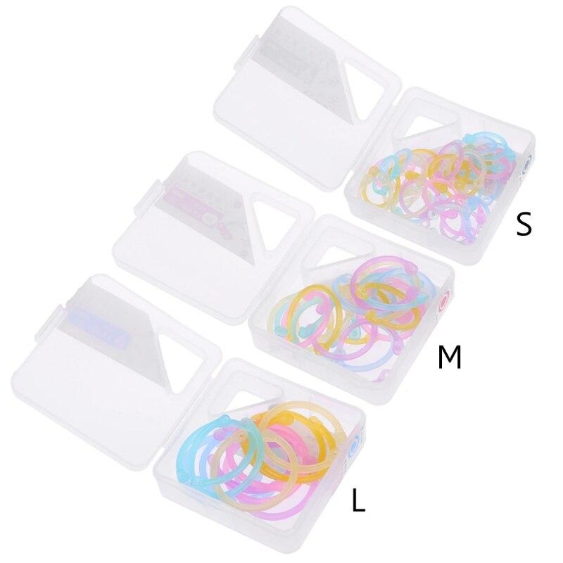 High Quality Binder Ring Creative Plastic Multifunction Circle DIY Album Loose Leaf Book Binder Hoop Ring-