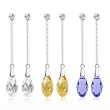 New Fashion Charming drop crystal earrings – tenderness 925 pure silver earrings sparkling noble gorgeous 210