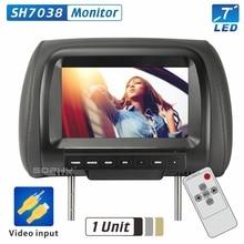 Прямая с фабрики 7 дюйм(ов) ов) автомобильный монитор светодио дный TFT светодиодный цифровой экран подголовник монитор плеер для автомобиля 2 видео вход