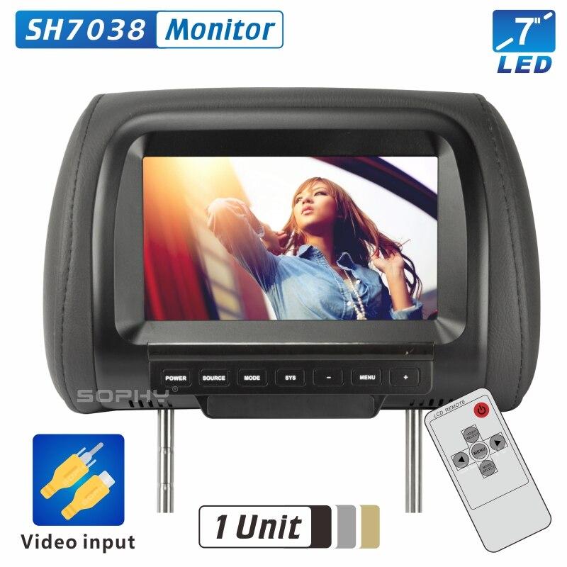 Прямая продажа с фабрики 7 дюймов Автомобильный монитор TFT светодиодный цифровой экран подголовник монитор для автомобиля 2 видео вход