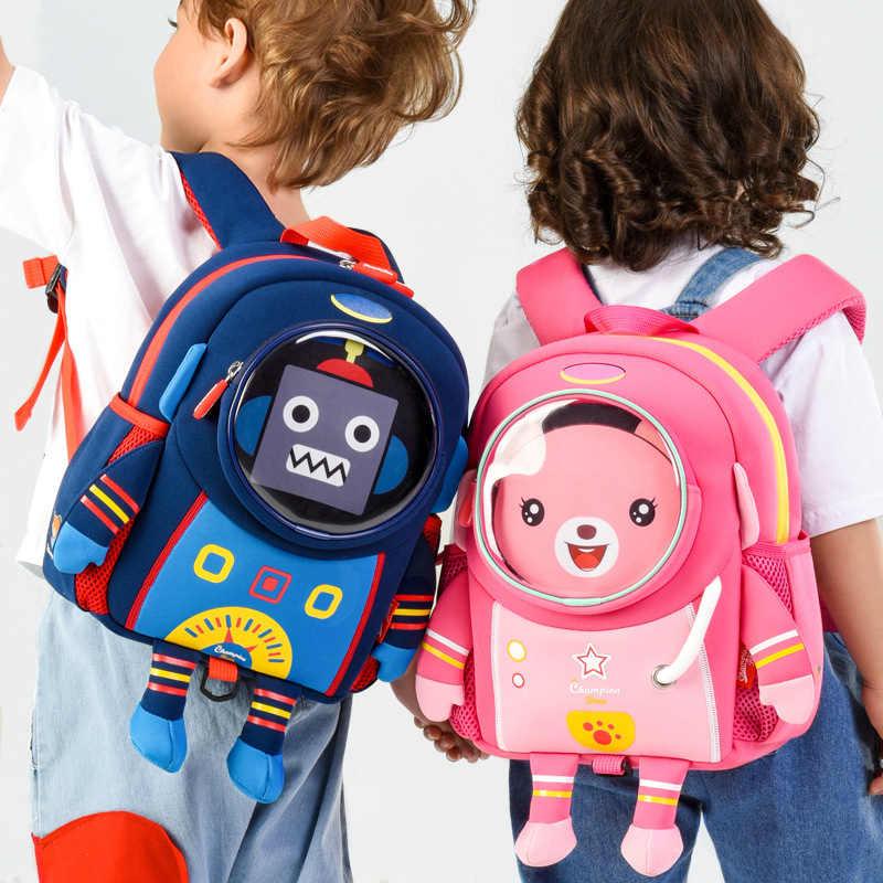 bd47ac97d2d9 3D Dinosaur Backpack For Boys Children backpacks kids kindergarten ...
