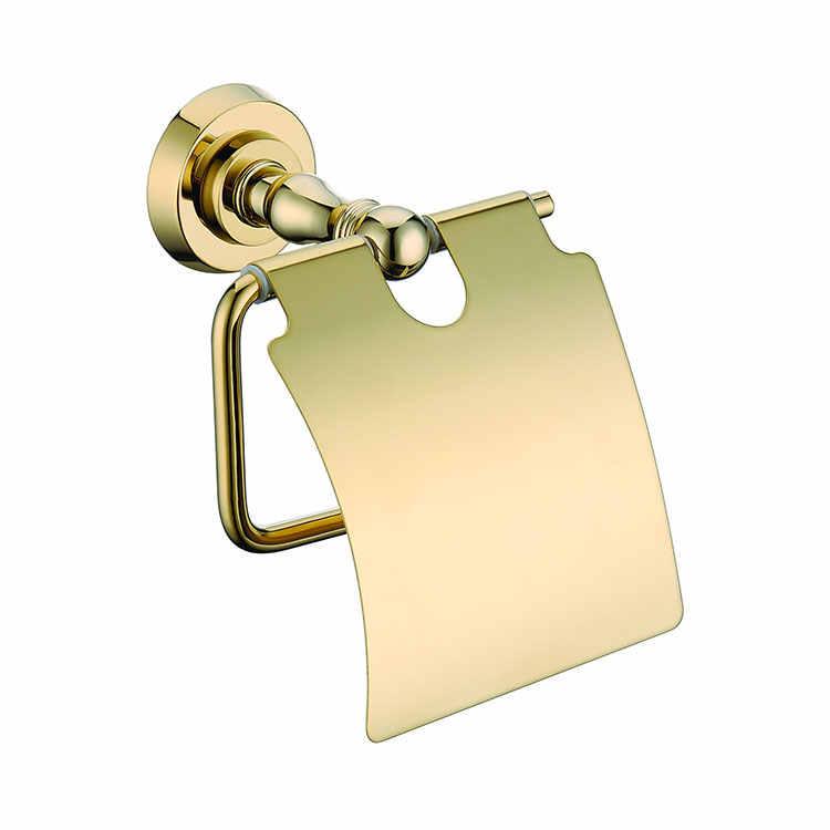 Luxus gold solide messing Bad hardware Zubehör set Papier halter Robe haken kleidung-haken Handtuch ring Handtuch rack Seife korb