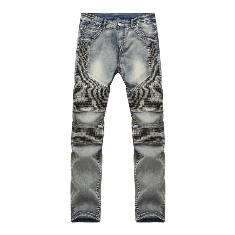 2016 hot selling Mens Skinny Jeans Men Hi-Street Ripped Rider Denim Jeans Motorcycle Runway Slim Fit Washed Moto Denim Pants skinny biker jeans men hi street ripped rider denim jeans motorcycle runway slim fit washed moto denim pants joggers jw104