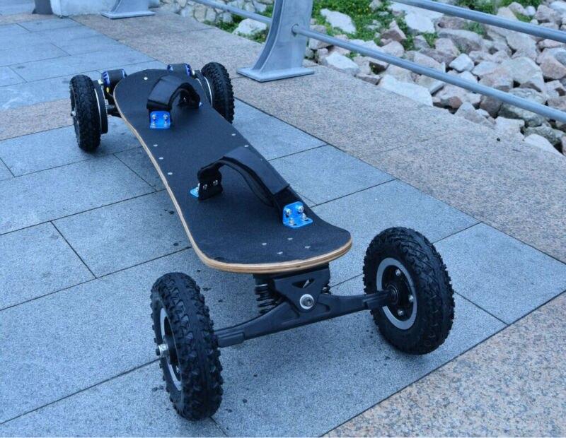 Quatro Rodas Longboard Skate Dupla Potência Do Motor Elétrico Scooter Elétrico Impulsionado placa de scooter E-Hoverboard