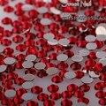 400 unids 2mm-6mm Tamaño Mixto encantador hermoso rojo 14 faceta ronda espumoso diamante de acrílico decoración de uñas de arte N05