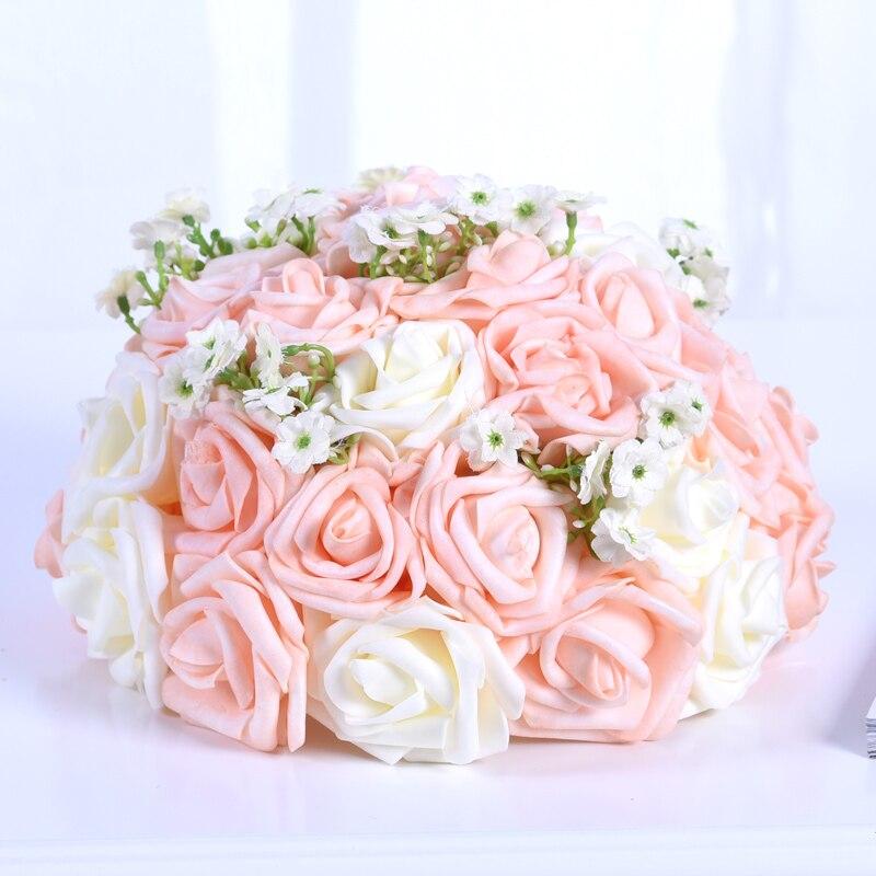 25cm Champagne Wedding Props Road Flower Wedding Hotel Desk Flower ...