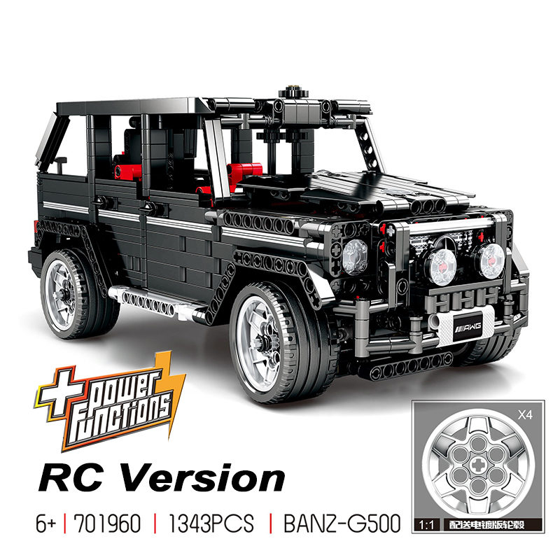 En stock 1343 pièces créateur technique MOC 2425 G500 SUV AWD Wagon voitures modèle Expert Compatible avec Legoing 2425 bloc de construction brique