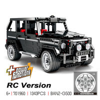 In stock 1343Pcs Creator Technic MOC 2425 G500 SUV AWD Wagon Cars Expert Model Compatible with 2425 Building Block Brick