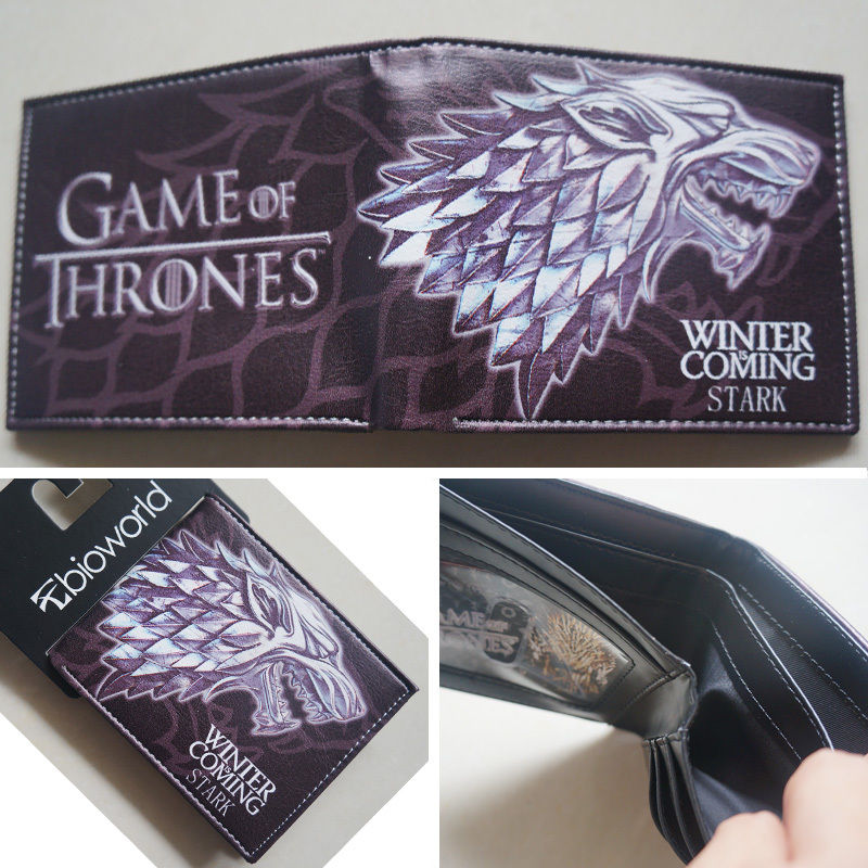 2018 New HBO Game of Thrones House Stark Winter Is Coming wallets Purse Leather W026