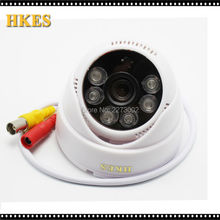 Indoor IR Dome Mini Analog Video Cam with white case 6IR LED Day/Night CCTV Camera 3.6MM