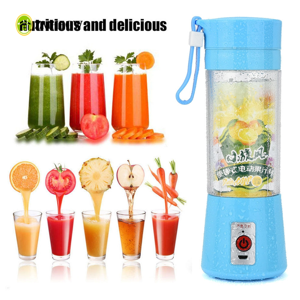 2017 New Creative Mini Portable USB Electric Fruit Juicer Machine Rechargeable Smoothie Maker Blender Bottle Juice