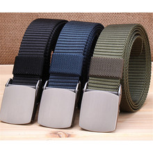 3 CM Men Army Belt Nylon Tactical Outdoor Jeans High Quality Punk Mens Automatic Buckle Waist Pasek Do Spodni