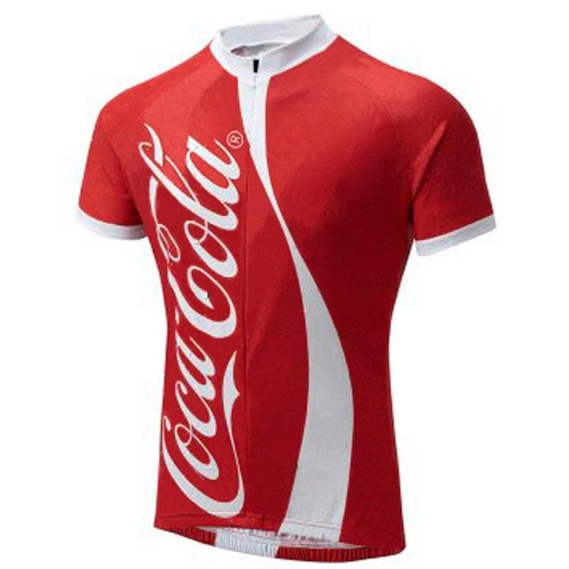 Prix pour 2016 homme cola vélo jersey top manches rouge vélo clothing VTT/ROUTE maillots de vêtements de cyclisme Respirant