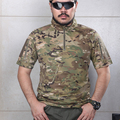 2016 Verão Camisa CP Multicam Camouflage Tactical Camisa Quickdry 100% polyster