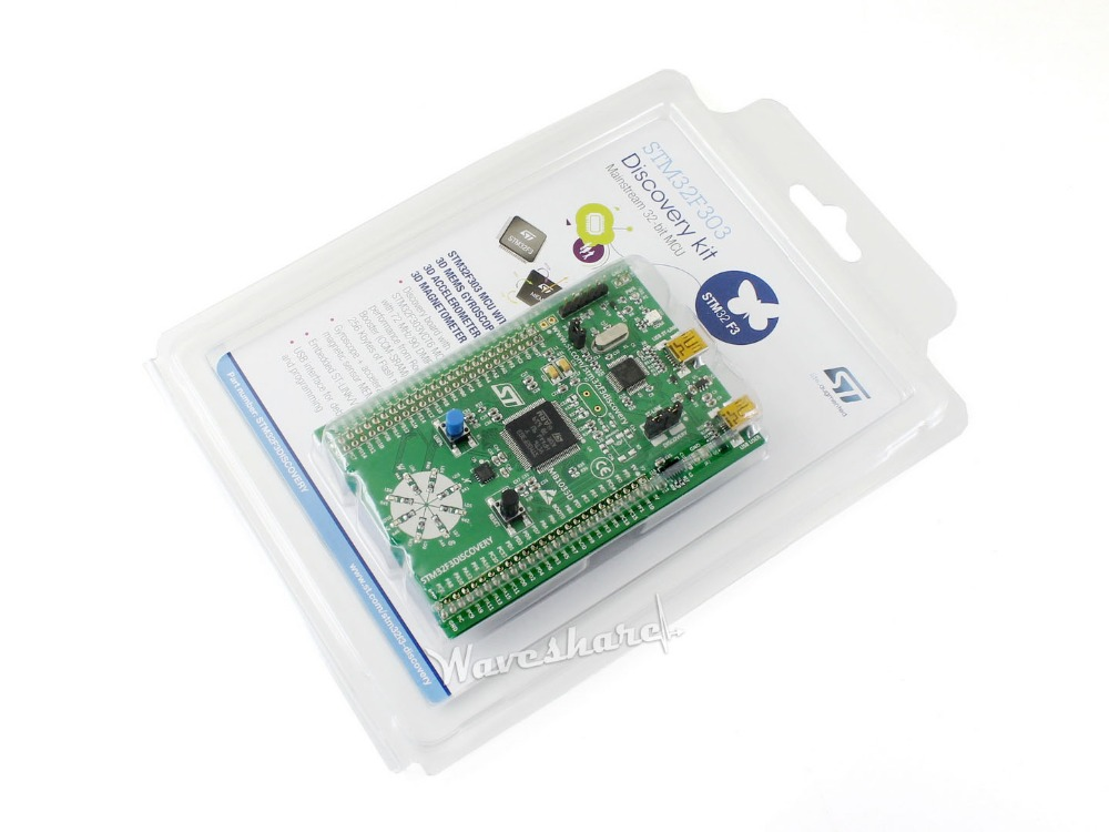 100% ST Original STM32F3DISCOVERY Discovery Kit STM32F303VCT6 ARM Cortex-M4 STM32 Development Board On-board ST-LINK/V2