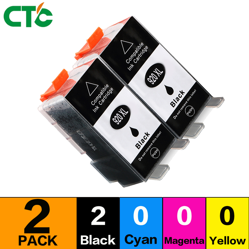 2BLACK 920XL Compatible for 920 Ink Cartridge For 6000 6500 6500 6500A 7000 7500 7500A E709c E709 printers Inkjet Cartridge