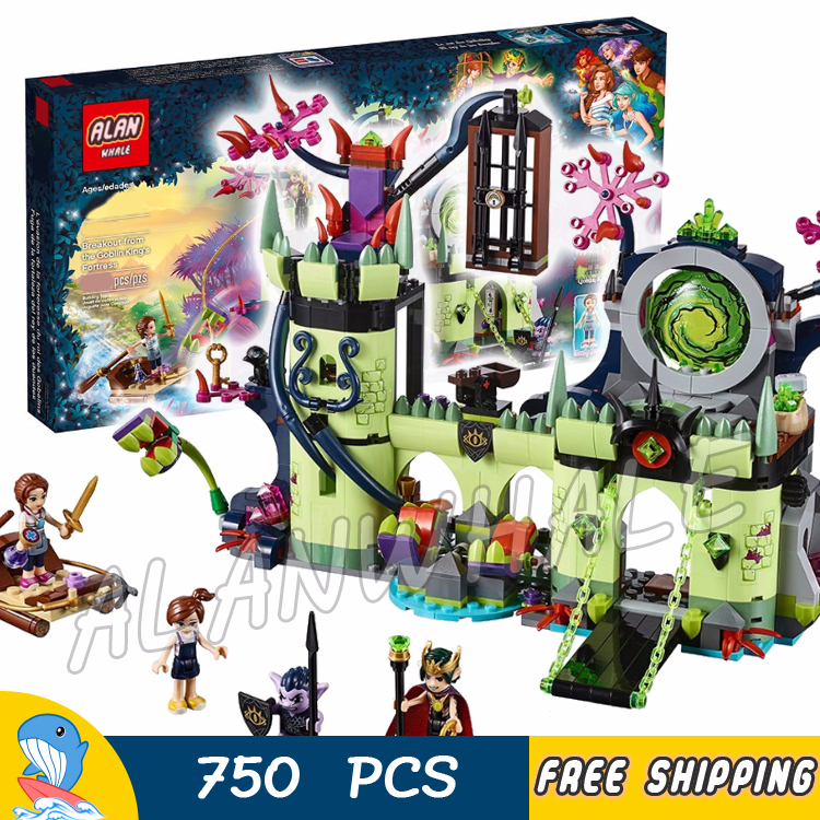 750pcs Fairy Breakout from the Goblin King's Fortress 10699 Figure Building Blocks Children Toys Compatible With LagoING Elves image