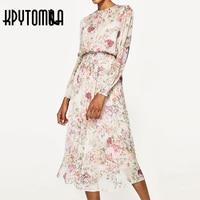 2017 New Summer Fashion Vintage Dress Women Floral Printed Dress Beach Casual Dresses Brand Women Sexy