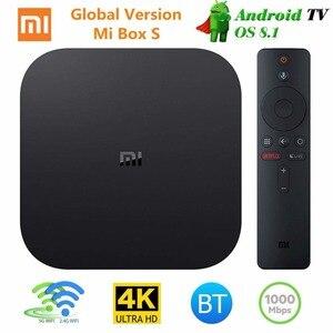 Image 2 - شاومي Mi TV Box S النسخة العالمية 4K HDR تي في بوكس أندرويد HD 2G 8G واي فاي Mi Box جوجل يلقي Netflix مجموعة أفضل مشغل وسائط 1000Mbp