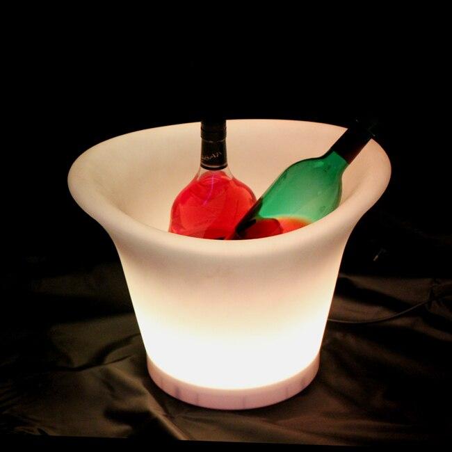 SK-LF08 (L38 * W32 * H28cm) 16 LED qui change de couleur Pot de fleur iluminouse planteur avec 1000 mah Li batterie avec télécommande livraison gratuite 1 pc