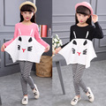 3-10Y Girl Stripe T Shirt + Pants/Legging Children's Clothing Set Girls Long Sleeve Sets Ordinary Kids Clothes Children 2pcs Set