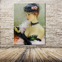 Handpainted Wall Art Ornament Hot Women Sexy Girl Oil Painting Nude Girl Portrait Body Painting On Canvas For Living Room