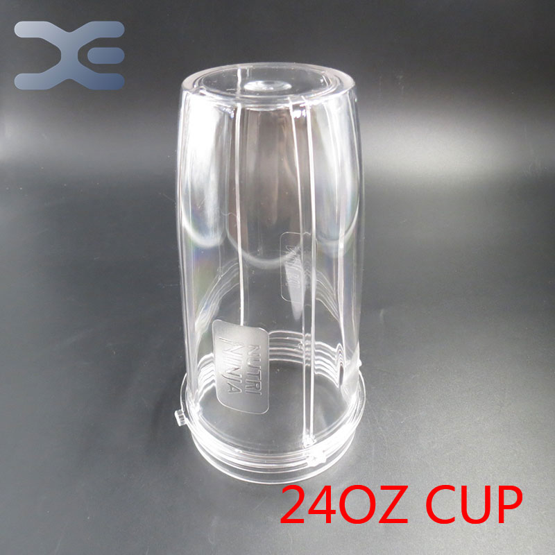 5Per Lot Blender Spare Parts 24OZ Clear Replacement Mug Cup For Nutri Ninja Blender Juicer Replacement 1000W Auto 8 replacement spare parts blender juicer parts 4 rubber gear 4 plastic gear base for magic bullet 250w 38