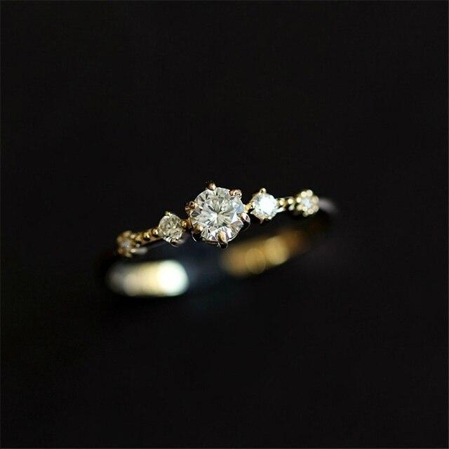 fb44d6d442c6c1 Cute Dainty Women's Snowflake Rings Delicate Rings Rings Wedding Jewelry