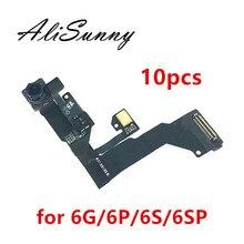 AliSunny 10 قطعة كاميرا أمامية فليكس كابل آيفون 6 6S زائد 6SPlus 6G 6SP الاستشعار القرب تواجه كام فيس تايم أجزاء