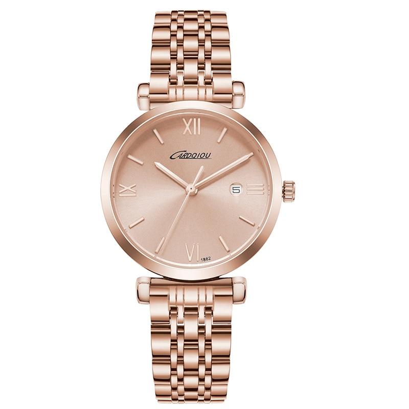 Fashion Women Watches Luxury Famous Brand Quartz Watches Steel Female Clock Watch Women's Wristwatch Waterproof Relojes Mujer цена