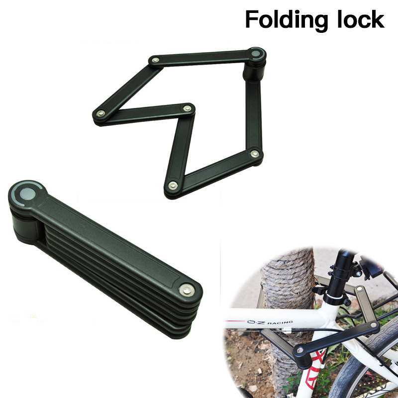 Repair Tools Bicycle Folding Lock Alloy Steel Security Strong Harden Anti-Theft Lock Lock MTB Foldable Bike Cycing Accessories universal 100cm x 12mm bike lock anti theft steel strong wire coil cable bicycle motorcycle security lock with 2 keys