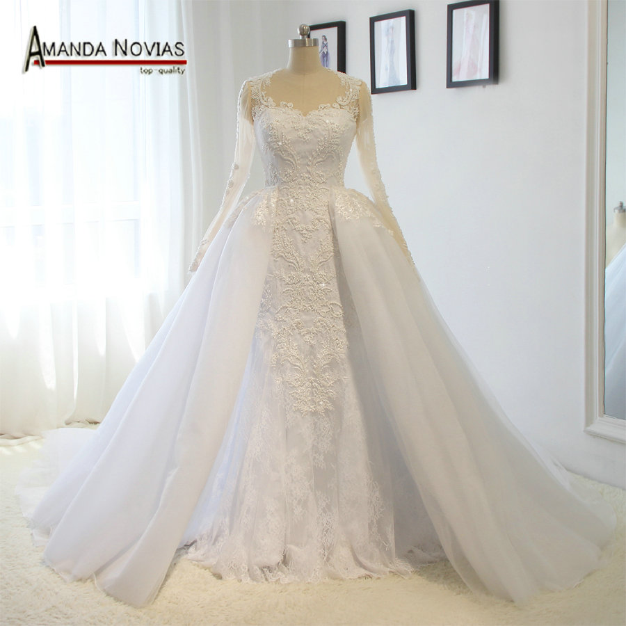 Buy luxury detachable train wedding dress for Detachable train wedding dress