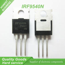 цены на 10PCS free shipping 100% new original IRF9540N TO-220 100V/23A/0.117 new original euro P channel field-effect tube  в интернет-магазинах