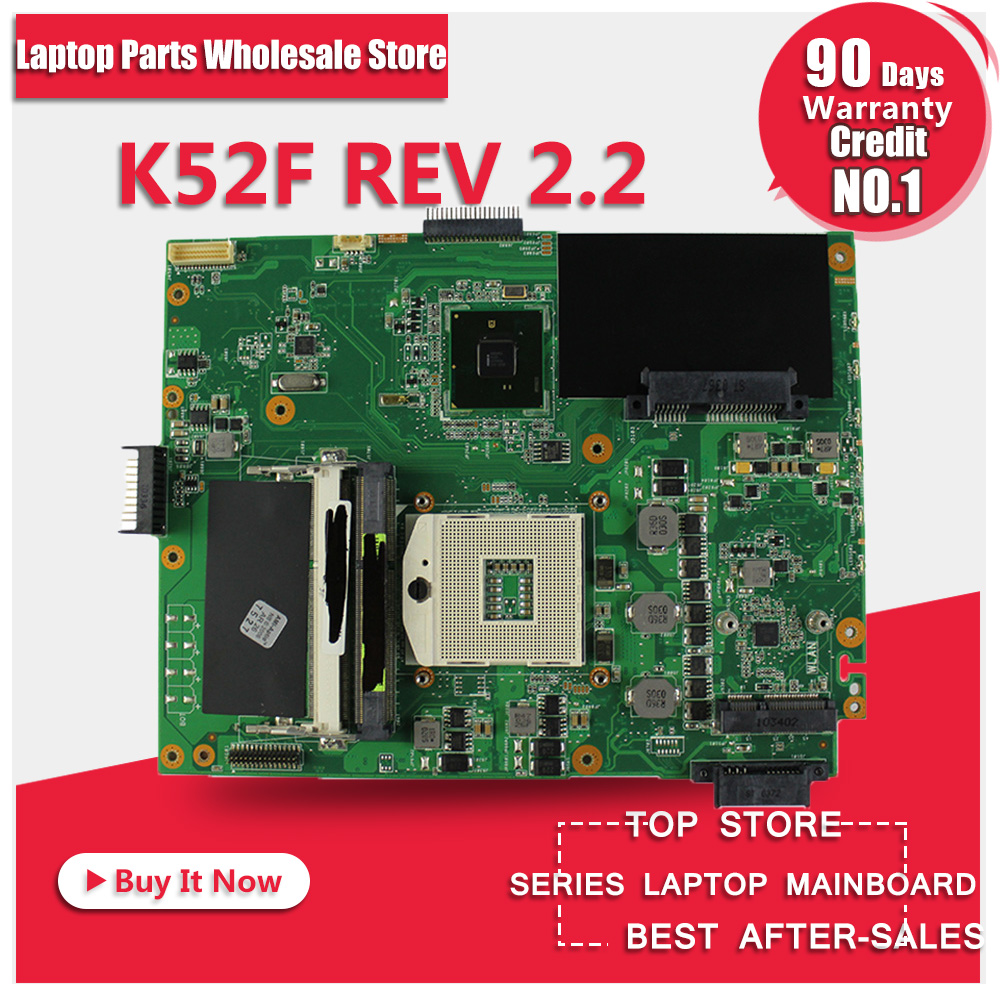 original new For ASUS K52F X52F A52F P52F Laptop Motherboard REV 2 2 HM55 PGA989 DDR3