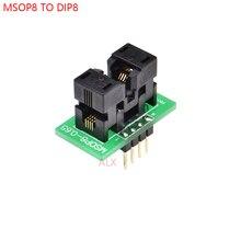 1 adet MSOP8 TO DIP8 programcı adaptör soketi MSOP DIP dönüştürücü MCU testi çip IC 0.65MM PITCH
