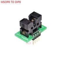 Программатор MSOP8 в DIP8, 1 шт., переходник с MSOP на DIP преобразователь, микросхема тестирования микроконтроллера для шага 0,65 мм