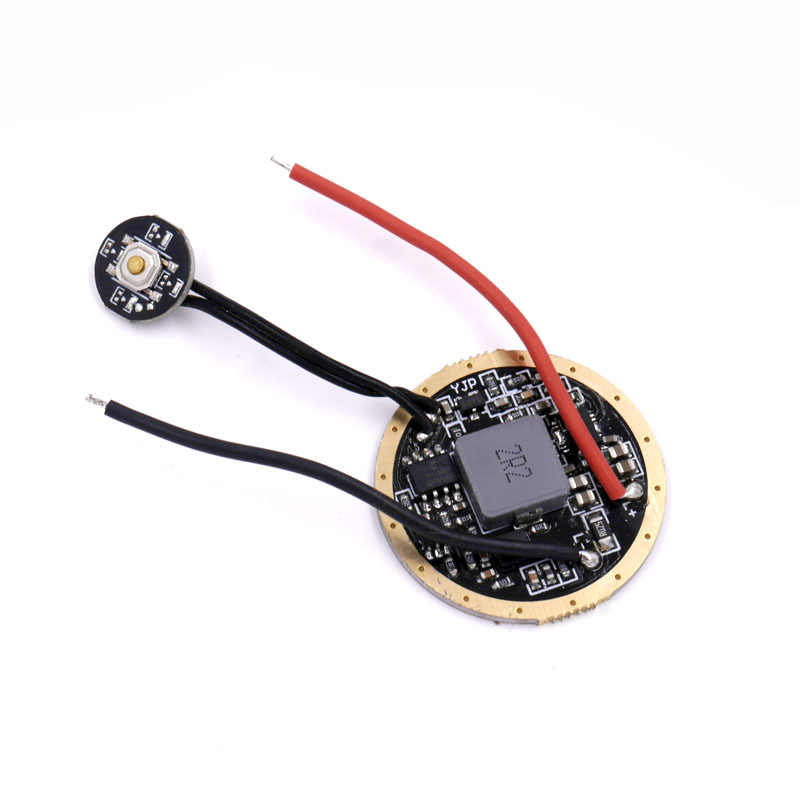 Светодиодный драйвер Boost 20 мм Cree XHP70.2 6 в, 32 мм, 3,7-4,2 В, 1 ячейка, 6 режимов, печатная плата с боковым переключателем